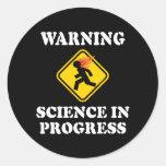 Warning Science In Progress Stickers