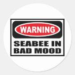 Warning SEABEE IN BAD MOOD Sticker