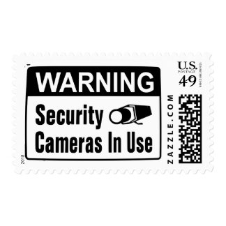 Warning Security Camera In Use Postage