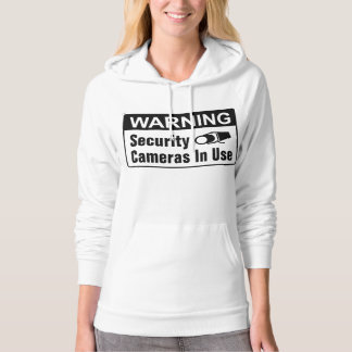 Warning Security Camera In Use Womens Hoodie