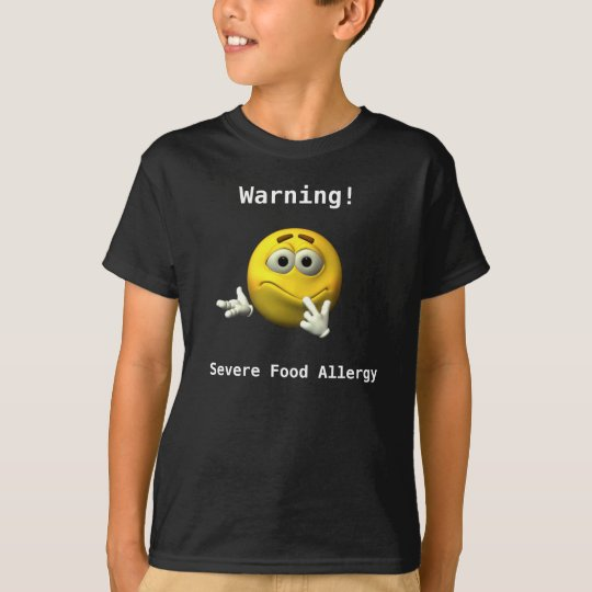 Warning Severe Allergy T-Shirt