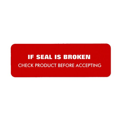 Warning  Shipping Custom Return Address Label