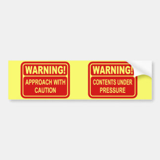 Warning Sign Approach With Caution Design Bumper Sticker