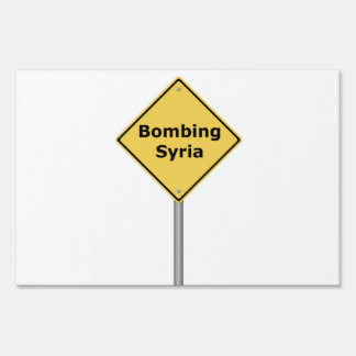 Warning Sign Bombing Syria