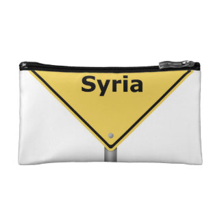 Warning Sign Bombing Syria Cosmetic Bag