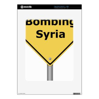 Warning Sign Bombing Syria iPad Decal