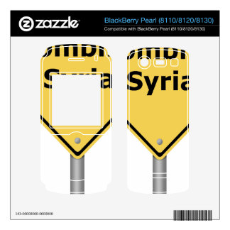 Warning Sign Bombing Syria Decals For BlackBerry