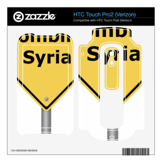 Warning Sign Bombing Syria HTC Touch Pro2 Skins