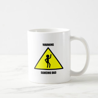 Warning Sign: Dancing Dad Coffee Mug