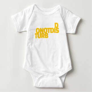 Warning Sign Do Not Disturb Disturbed Enough Baby Bodysuit