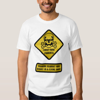 Warning Sign - First-Time Parents T-shirt