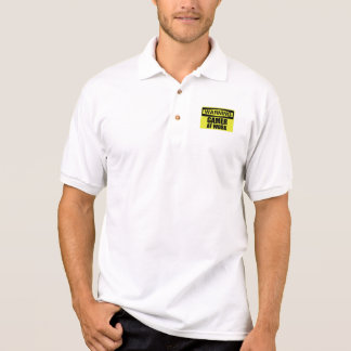Warning Sign Gamer At Work Funny Polo Shirt