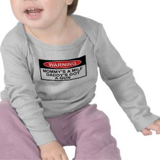 Warning sign,MILF theme T-shirt