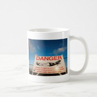 Warning sign near St. Maarten Airport, Coffee Mug