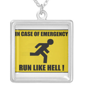 warning sign necklace