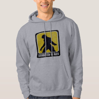 Warning Sign - Sasquatch in Area Hoodie