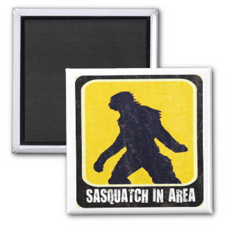 Warning Sign - Sasquatch in Area Magnet