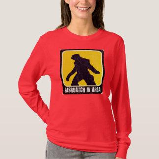Warning Sign - Sasquatch in Area T-Shirt