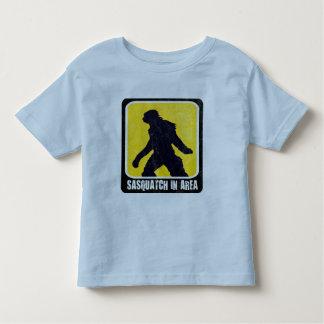 Warning Sign - Sasquatch in Area Toddler T-shirt