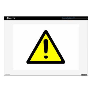 """Warning Sign Skins For 15"""" Laptops"""