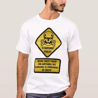 Warning Sign - Starship Toilet T-Shirt