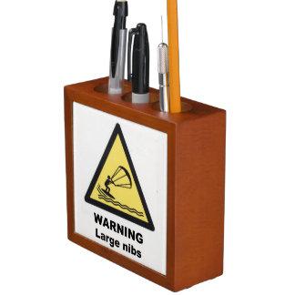 Warning signs desk organiser Pencil/Pen holder