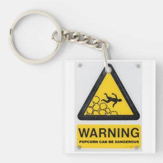Warning signs keyring