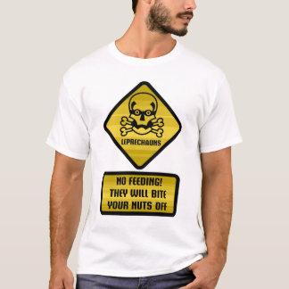 Warning Signs - Leprechauns T-Shirt