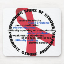 Warning Signs of Stroke Mousepad