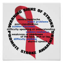 Warning Signs & Symptoms of Stroke Poster