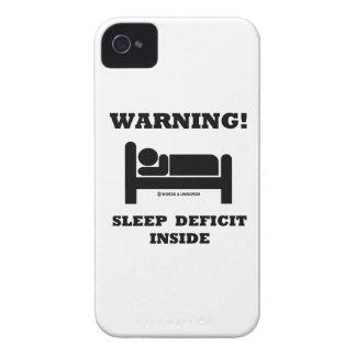 Warning! Sleep Deficit Inside Sleep Humor Sign iPhone 4 Cover