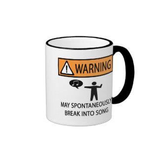 Warning Spontaneous Singer Ringer Mug