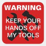 Warning Square Sticker