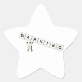 Warning Star Sticker