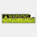 Warning sticker boat security bumper stickers