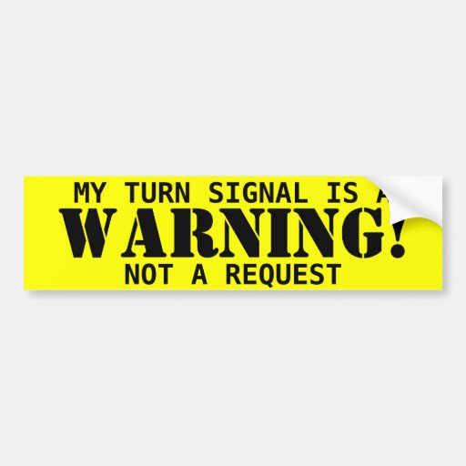 Warning! sticker bumper stickers