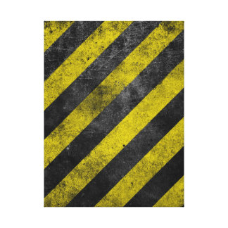 Warning Stripes Stretched Canvas Print