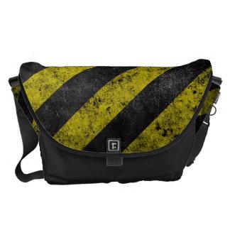 Warning Stripes Courier Bag