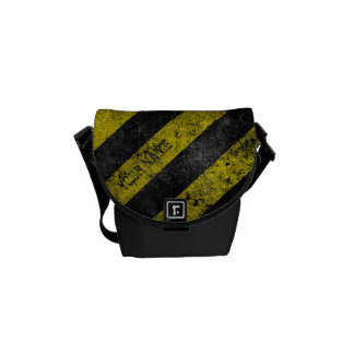 Warning Stripes Customizable Courier Bag