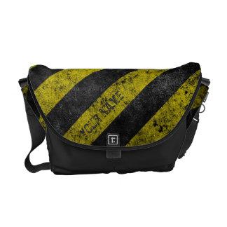 Warning Stripes Customizable Messenger Bag