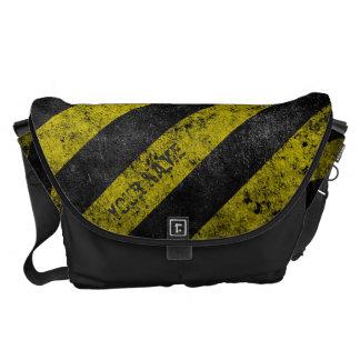 Warning Stripes Customizable Messenger Bags