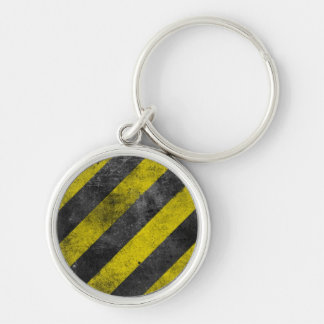 Warning Stripes Keychain