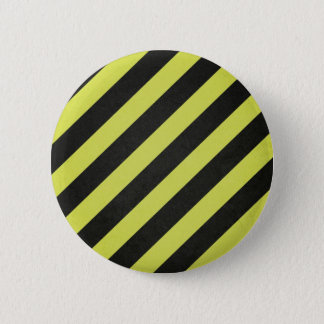Warning Stripes Pinback Button