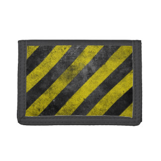 Warning Stripes Tri-fold Wallets
