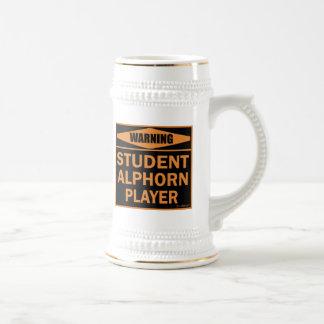 Warning! Student Alphorn Player! Beer Stein