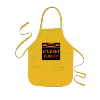 Warning! Student Bugler! Kids' Apron