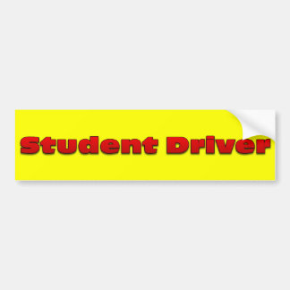 Warning student driver behind wheel of this car bumper sticker