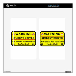 Warning Student Driver Skin For Kindle Fire