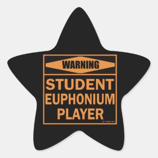 Warning! Student Euphonium Player! Star Sticker