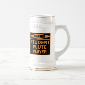 Warning! Student Flute Player! Beer Stein